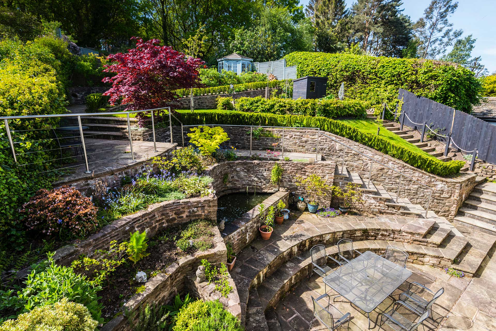 Bring in the light - A Challengingly steep garden
