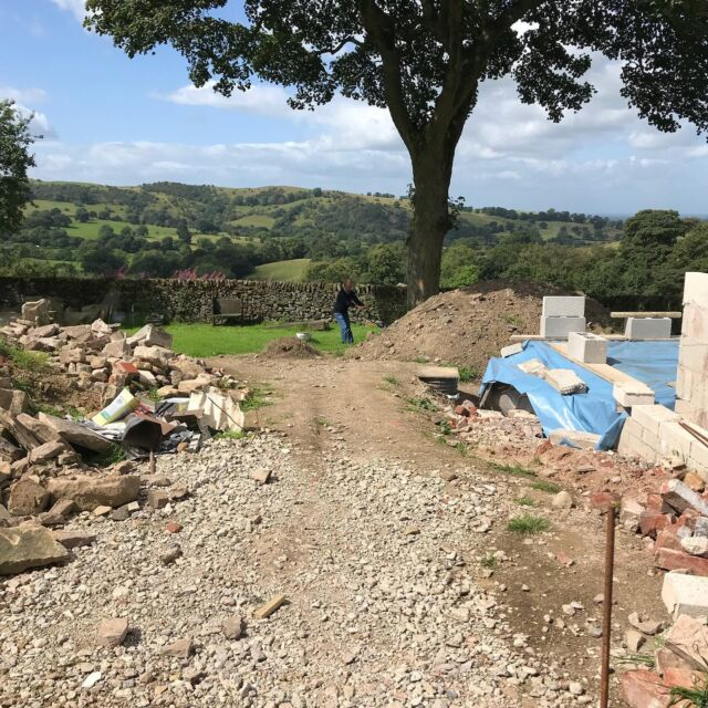 View without a room. This will be a lovely garden. Trust me I'm a designer. #peakdistrict #viewofthehills #gardendesign #societyofgardendesigners